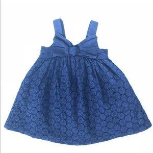 Navy Blue Girls Dress 18 months eyelet Lace
